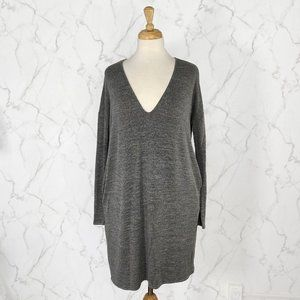 Aritzia Wilfred Free Gail V Neck Long Sleeve Dress